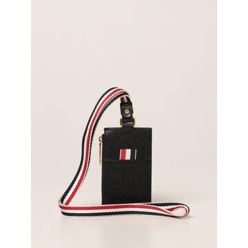 Thom Browne credit card holder in grained leather