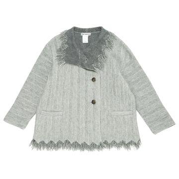 Issey Miyake Grey Wool Coats