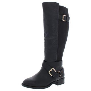 Thalia Sodi Womens Vada Wide Calf Faux Leather Riding Boots