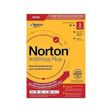 Norton AntiVirus Plus with Auto Renewal for 1 Device, Windows/Mac, Product Key Card (21392074)