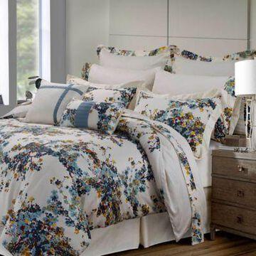 Tribeca Living Casablanca 12-Piece King Comforter Set in Blue/Gold