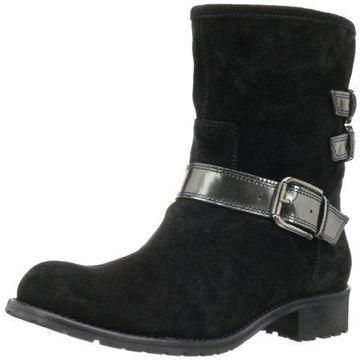 Sesto Meucci Women's Bluey Ankle Boot,Black Leon Suede/Gunmetal Specchio Kid,7 M US