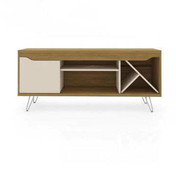 Manhattan Comfort Baxter Cinnamon and Off White TV Stand (Accommodates TVs up to 50-in) | 216BMC21