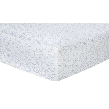 Trend Lab Blue Circles Flannel Fitted Crib Sheet