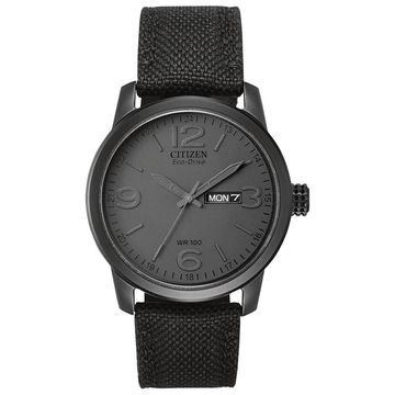 Men's Citizen Eco-Drive Military-Inspired Black Out Watch (Model: BM8475-00F)