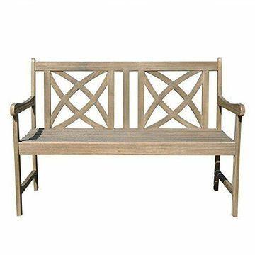 Vifah Renaissance Outdoor Bench in Natural New