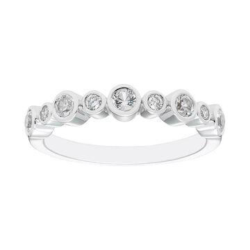 Boston Bay Diamonds Sterling Silver Gemstone & Diamond Accent Ring, Women's, Size: 6, White