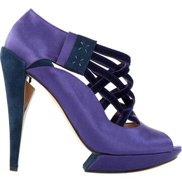 Nicholas Kirkwood Purple Cloth Heels