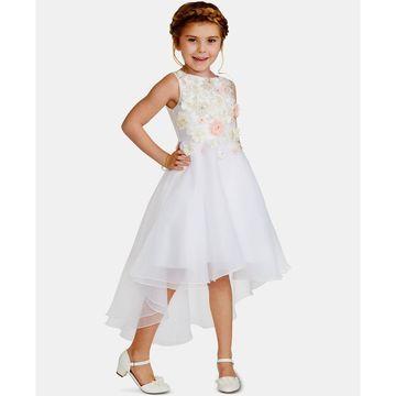 Little Girls Floral Mikado Dress