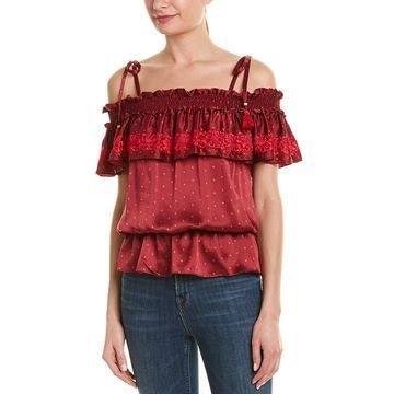 Figue Womens Tessa Silk Top