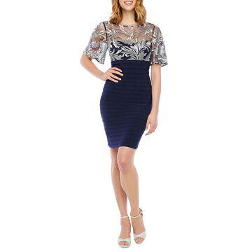 Scarlett Short Flutter Sleeve Paisley Shift Dress