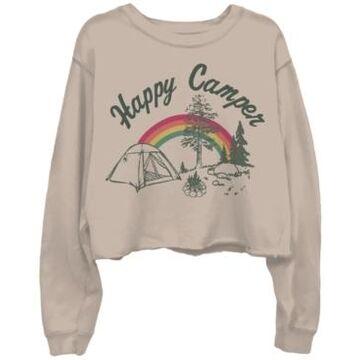 Junk Food Happy Camper Cotton Cropped Sweatshirt