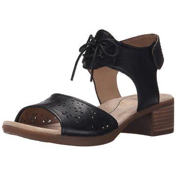 Dansko Women's Liz Taupe Antiqued Calf Sandal - 7
