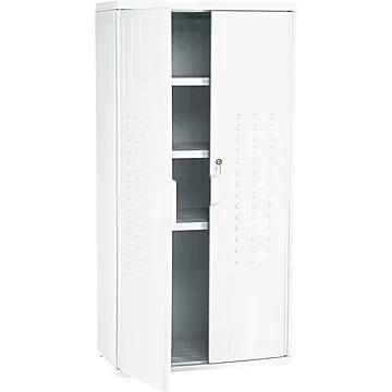 "Iceberg Officeworks Polyethylene Storage Cabinet, Non-Assembled, 66Hx33Wx18D"", Platinum"