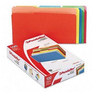 Pendaflex Interior File Folders, 1/3 Cut TOP TAB, Legal, Bright Assorted, 100/Box