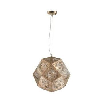 Worldwide Lighting Geometrics 3-Light Rose Gold Finish Stainless Steel Pendant Light