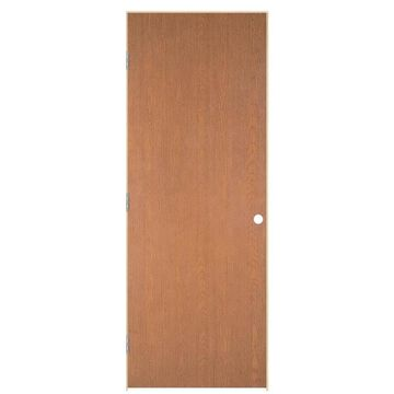 Masonite Traditional 30-in x 78-in (Unfinished) Flush Hollow Core Unfinished Hardwood Veneer Right Hand Inswing/Outswing Single Prehung Interior Door