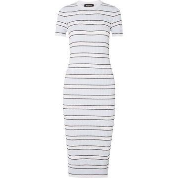 Markus Lupfer - Mary Striped Plisse-knit Midi Dress - Blue