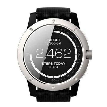 MATRIX PowerWatch PW01 Fitness Tracker Powered By You Smart Watch Silver Black