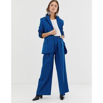 ASOS WHITE tonal stripe pants