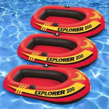 Intex Vinyl Explorer Inflatable Boat Pool Rafts, Orange