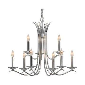 Volume Lighting Alesia 9-Light Hanging Chandelier