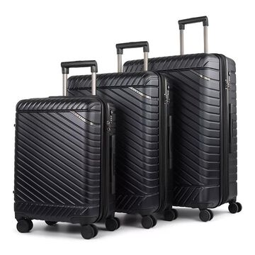 Bugatti Moscow Hard Side 3-Piece Luggage Set, Blue, 3 Pc Set