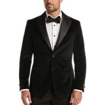 Egara Black Velvet Slim Fit Dinner Jacket