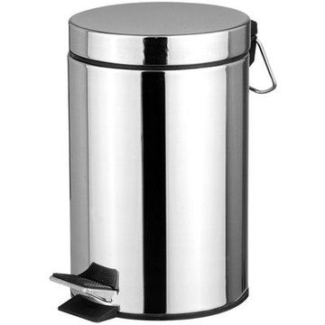 Home Basics 20 L Stainless Steel Waste Basket