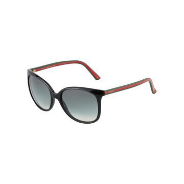 Oversized Round Cat-Eye Acetate Sunglasses