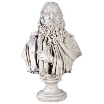Design Toscano Leonardo da Vinci Grand-Scale Sculptural Bust