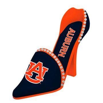 Auburn Tigers High Heel Shoe Bottle Holder - Navy Blue