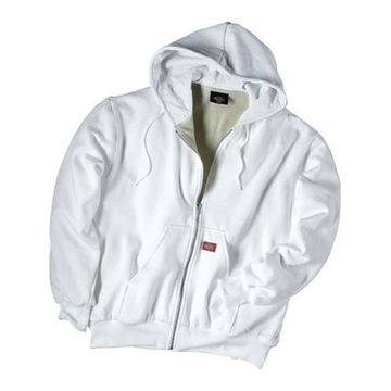 Dickies Men's Thermal Lined Fleece Jacket White