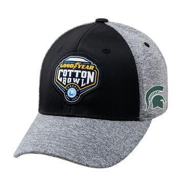 Michigan State Spartans Top of the World College Football Playoff 2015 Cotton Bowl Bound 1Fit Flex Hat - Black