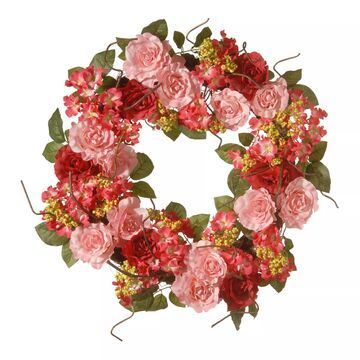 National Tree Company Artificial Pink Rose Wreath