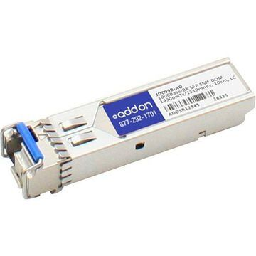 AddOn HP JD099B Compatible TAA Compliant 1000Base-BX SFP Transceiver (SMF, 1490nmTx/1310nmRx, 10km, LC, DOM)
