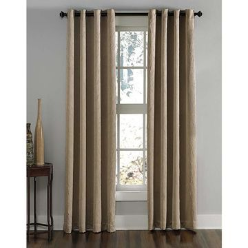 Chf Lenox 144-In Taupe Polyester Room Darkening Single Curtain Panel 1Q806304tp