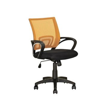 Corliving Workspace Black, Yellow Contemporary Adjustable Height Swivel Desk Chair Lof-325-O