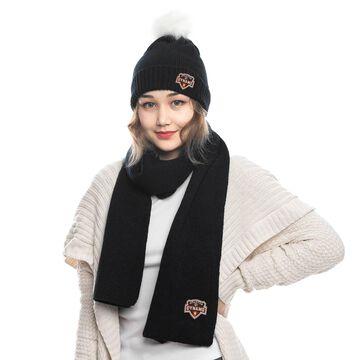 Houston Dynamo ZooZatz Fuzzy Cuffed Pom Knit Hat and Scarf Set