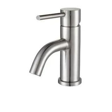 Whitehaus WHS0111-SB Waterhaus Single Hole Bathroom Faucet (Brushed Stainless Steel)
