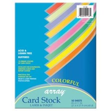 Array Assorted Colors Card Stock, 5 Packs