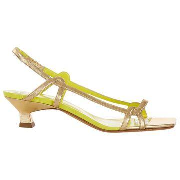 Derek Lam Gold Leather Heels