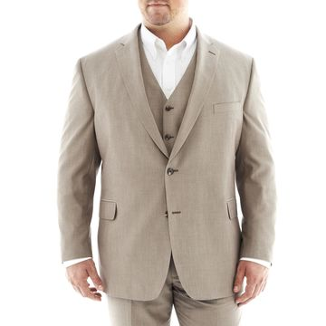 JF J. Ferrar Tan Suit JacketBig & Tall