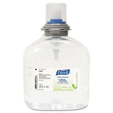 PURELL TFX Green Certified Instant Hand Sanitizer Gel Refill 1200mL Clear