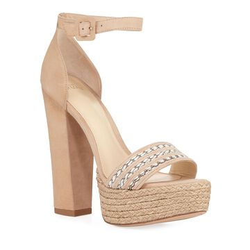 Alice Leather Platform Espadrille Sandals