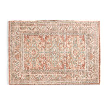 LC Lauren Conrad Red Tribal Border Jute and Chenille Rug