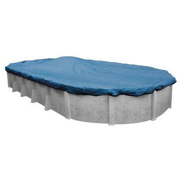 Robelle 10-Year Blue Mesh Oval Winter Pool Cover, 18 x 40 ft. Pool