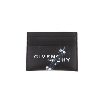 Givenchy Woman Trompe Loeil Card Holder In Black Leather