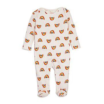 Stella McCartney Girls' Rainbow Print Footie - Baby