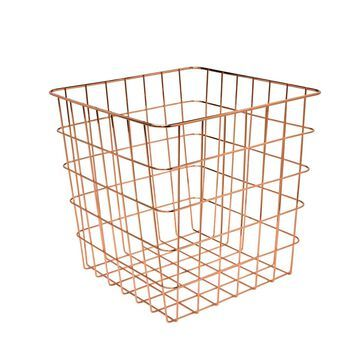 Honey Can Do Wire Basket-Copper
